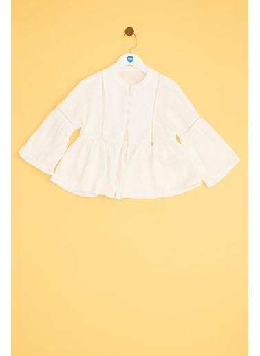 Tyess Kız Çocuk Beyaz Ceket 19SS1TJ4709 Beyaz